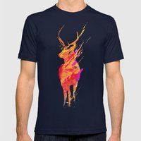 On the road again Mens Fitted Tee Navy SMALL