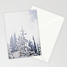 Fresh Mountain Snow Stationery Cards