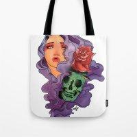 skull girl Tote Bag