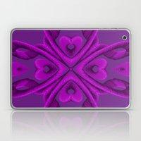 Hot Pink Hearts Laptop & iPad Skin