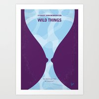 No630 My Wild Things minimal movie poster Art Print