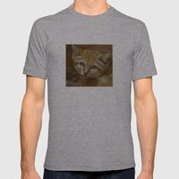 Sand Cat Mens Fitted Tee Athletic Grey SMALL