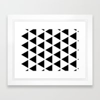 Sleyer Black on White Pattern Framed Art Print