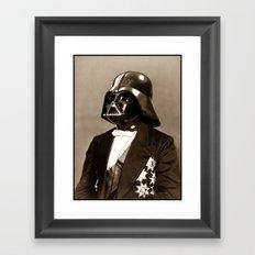 Portrait of Sir Vader Framed Art Print