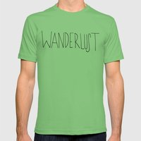 Wanderlust Mens Fitted Tee Grass SMALL