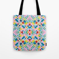 Map Outline 45 Repeat Tote Bag