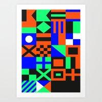 Nautical Alphabet Inverted CMYK Art Print