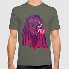 THE WALKING DEAD - Michonne Mens Fitted Tee Lieutenant SMALL