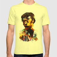 WONDER STAR Mens Fitted Tee Lemon SMALL