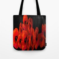 ELEVEN RED POPPIES Tote Bag