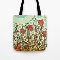 Pop Pop Poppies Abstract… Tote Bag