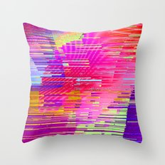 sunset glitch Throw Pillow