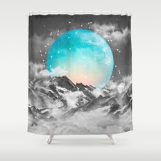 It Seemed To Chase the Darkness Away (Guardian Moon) Shower Curtain