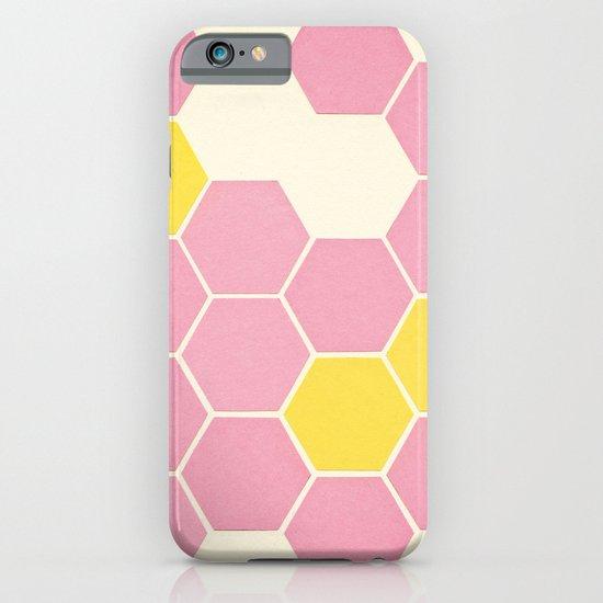 Pink Honeycomb iPhone & iPod Case