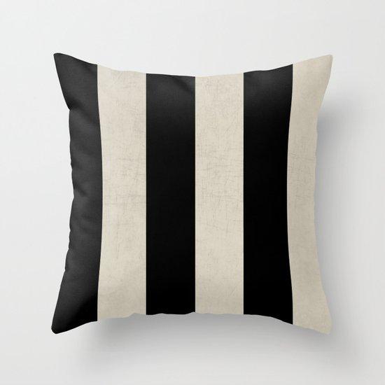 vintage black stripes Throw Pillow