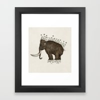 mammoth in bloom Framed Art Print