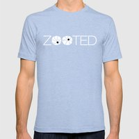 Zooted Mens Fitted Tee Tri-Blue SMALL