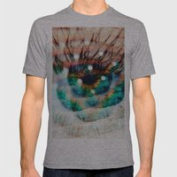 Green Eyes Hypnotize  Mens Fitted Tee Athletic Grey SMALL