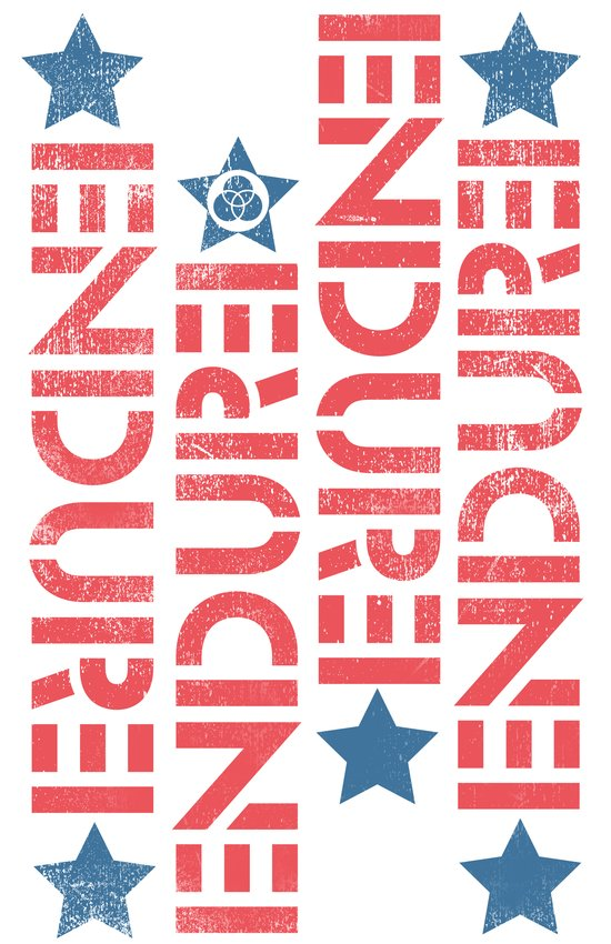 ENDURE STENCIL Art Print