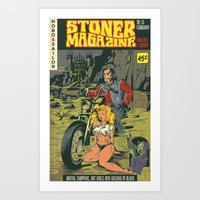 Hobo and Sailor. Stoner Magazine Art Print
