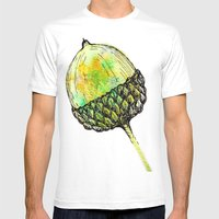 Acorn Mens Fitted Tee White SMALL