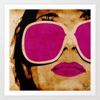 pink lipz Art Print