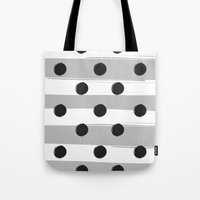 BLACK DOTS MEET WHITE STRIPES Tote Bag