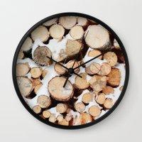 Firewood Wall Clock