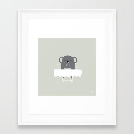 The Happy Dinner Framed Art Print