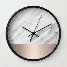 Carrara Italian Marble H… Wall Clock