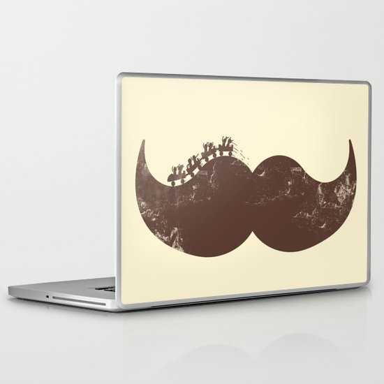 Mustache Ride Laptop & iPad Skin