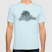 Smoking Duck Transparent Mens Fitted Tee Light Blue SMALL