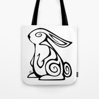 Rabbit Swirls Tote Bag