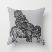 The Buffalo's Plea Throw Pillow