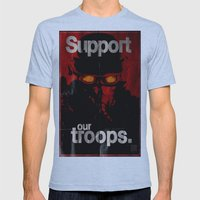 Support Our Troops Mens Fitted Tee Athletic Blue SMALL