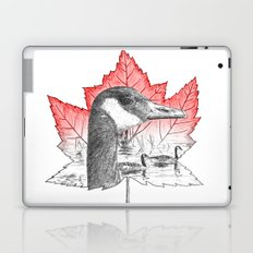 Canada Goose on Maple Leaf (with some red) Laptop & iPad Skin
