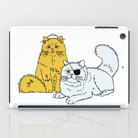 Navy Cats iPad Case
