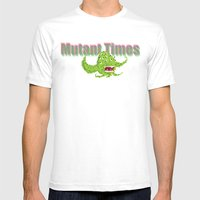 Mutant Times Mens Fitted Tee White SMALL