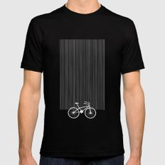 Blue Bike by Friztin SMALL Mens Fitted Tee Black