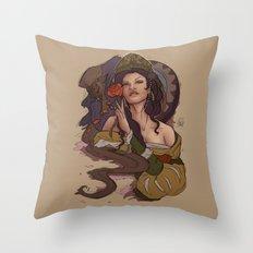 Beauty and the Beast Flat Art Throw Pillow