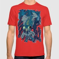 Subaquatic Aurora  Mens Fitted Tee Red SMALL