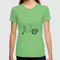 Spin Bike Womens Fitted Tee Grass SMALL