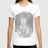 Snake And Sprite Womens Fitted Tee White SMALL