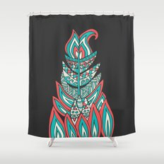 A Romantic Feather Shower Curtain