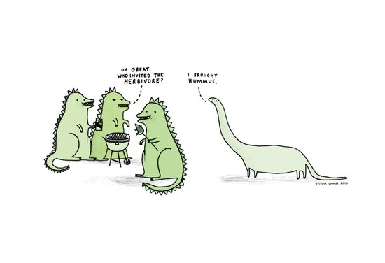 Who Invited the Herbivore? Art Print