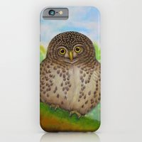 iPhone & iPod Case featuring Collared Owlet by Amy Fan