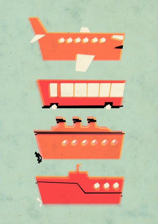 The tubes we travel in Art Print