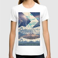 Out There Womens Fitted Tee White SMALL