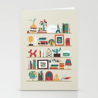 Stationery Cards featuring The Shelf by Budi Kwan
