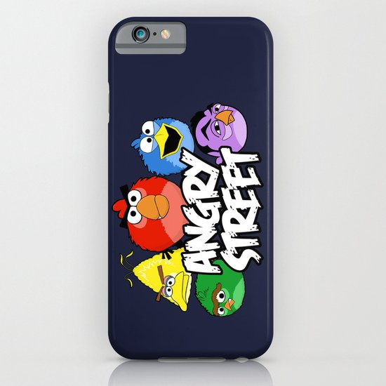 Angry Street: Angry Birds and Sesame Street Mashup iPhone & iPod Case